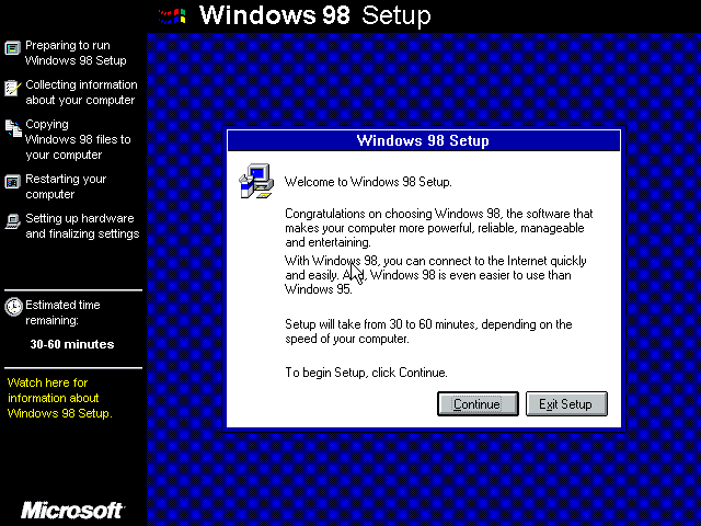 Win98 Installation Details at ][Cyber Pillar][